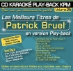 CD KARAOKE PLAY-BACK KPM VOL. 25 ''Patrick Bruel''