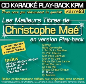 CD KARAOKE PLAY-BACK KPM VOL. 23 ''Christophe Maé''