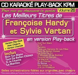 CD KARAOKE PLAY-BACK KPM VOL. 26 ''Françoise Hardy & Sylvie Vartan''