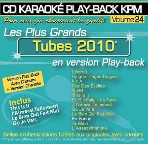 CD KARAOKE PLAY-BACK KPM VOL. 24 ''Tubes 2010''