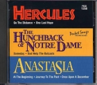 CD PLAY BACK POCKET SONGS DISNEY'S BROADWAY : BOSSU DE NOTRE DAME, HERCULES & ANASTASIA