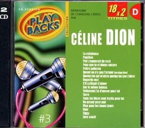 CD PLAY BACK CELINE DION VOL.03 Bis (avec choeurs)