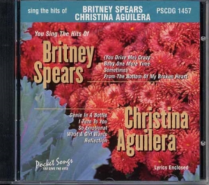 CD(G) PLAY BACK POCKET SONGS BRITNEY SPEARS & CHRISTINA AGUILERA (livret paroles inclus)