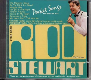CD PLAY BACK POCKET SONGS HITS OF ROD STEWART (livret paroles inclus)