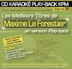 CD KARAOKE PLAY-BACK KPM VOL. 28 ''Maxime Le Forestier''