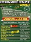 DVD KARAOKE KPM PRO VOL. 16 ''Années 70 & 80'' (All)