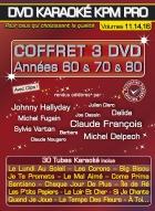 COFFRET 3 DVD KARAOKE KPM PRO ''Années 60, 70 & 80'' (All)