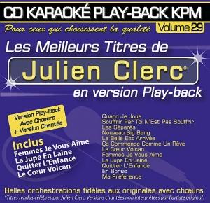 CD KARAOKE PLAY-BACK KPM VOL. 29 '' Julien Clerc''