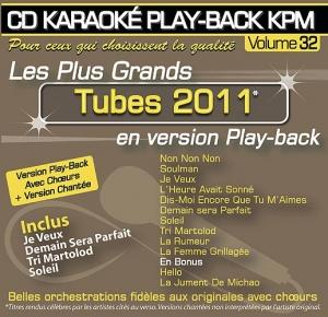 CD KARAOKE PLAY-BACK KPM VOL. 32 ''Tubes 2011''