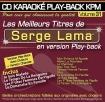 CD KARAOKE PLAY-BACK KPM VOL. 31 ''Serge Lama''