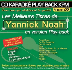 CD KARAOKE PLAY-BACK KPM VOL. 33 ''Yannick Noah''