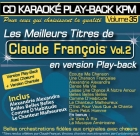 CD KARAOKE PLAY-BACK KPM VOL. 35 ''Claude François Vol.2''