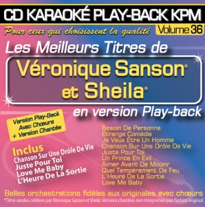 CD KARAOKE PLAY-BACK KPM VOL. 36 ''Véronique Sanson & Sheila''