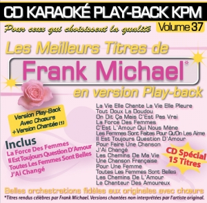 CD KARAOKE PLAY-BACK KPM VOL. 37 ''Frank Michael''