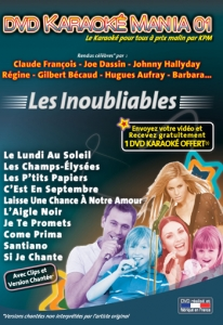 DVD KARAOKE MANIA VOL. 01 ''Les Inoubliables'' (All)