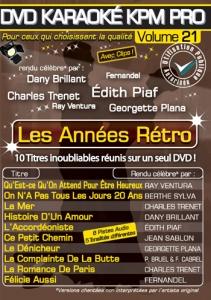 DVD KARAOKE KPM PRO VOL. 21 ''Les Années Rétro'' (All)