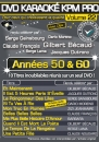 DVD KARAOKE KPM PRO VOL. 22 ''Années 50 & 60'' (All)