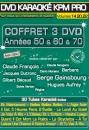 COFFRET 3 DVD KARAOKE KPM PRO ''Années 50 & 60 & 70'' (All)