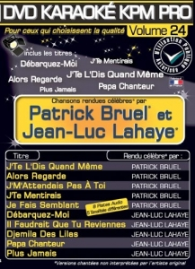 DVD KARAOKE KPM PRO VOL. 24 ''Patrick Bruel & Jean-Luc Lahaye'' (All)