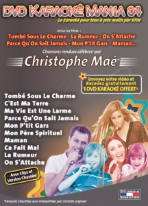 DVD KARAOKE MANIA VOL. 04 ''Christophe Maé'' (All)