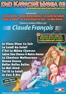 DVD KARAOKE MANIA VOL. 03 ''Claude François'' (All)