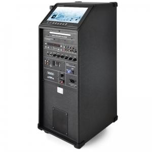 ENSEMBLE PORTABLE DVD KARAOKÉ LOTRONIC 100 W MICRO VHF + MONITEUR