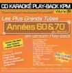 CD KARAOKE PLAY-BACK KPM VOL. 39 ''Années 60 & 70 Au Féminin''
