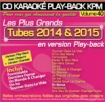 CD KARAOKE PLAY-BACK KPM VOL. 40 ''Tubes 2014 & 2015''