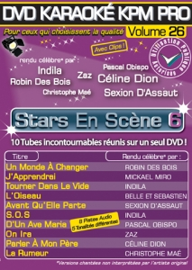 DVD KARAOKE KPM PRO VOL. 26 ''Stars En Scène 6'' (All)