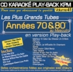 CD KARAOKE PLAY-BACK KPM VOL. 41 ''Tubes Années 70 & 80 Au Masculin''