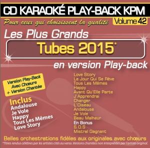 CD KARAOKE PLAY-BACK KPM VOL. 42 ''Tubes 2015''