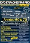 DVD KARAOKE KPM PRO VOL. 27 ''Années 60 & 70 - 2'' (All)