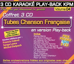 Coffret 3 CD KARAOKÉ PLAY-BACK KPM ''Tubes Chanson Française Vol.04''