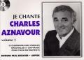 LIVRET PAROLES CHARLES AZNAVOUR VOL.01 (avec accords)