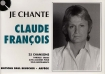 LIVRET PAROLES CLAUDE FRANCOIS (avec accords)