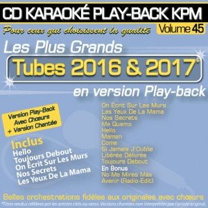 CD KARAOKE PLAY-BACK KPM VOL. 45 ''Tubes 2016 & 2017''