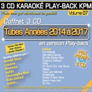 Coffret 3 CD Karaoké Play-Back KPM ''Tubes Années 2014 à 2017''