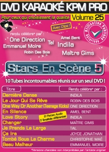 DVD KARAOKE KPM PRO VOL. 25 ''Stars En Scène 5'' (All)