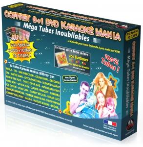 COFFRET 6 DVD + 1 KARAOKE MANIA ''Mega Tubes Inoubliables'' + Elastiques