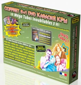 COFFRET 6 DVD + 1 KARAOKE KPM ''Mega Tubes Inoubliables 3''