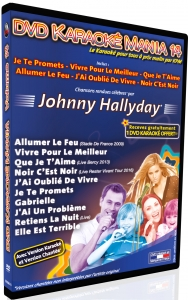 DVD KARAOKE MANIA VOL. 14 ''Johnny Hallyday''