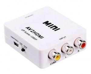 Adaptateur HD 1080p RCA/HDMI Alimentation USB + Câble HDMI/HDMI 1,5m