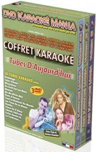 COFFRET 3 DVD KARAOKE MANIA ''Tubes D'Aujourd'hui''