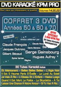 COFFRET 3 DVD KARAOKE KPM PROMO ''Années 50 & 60 & 70'' (All)