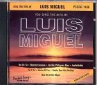 CD(G) PLAY BACK POCKET SONGS LUIS MIGUEL CLASSICS (livret paroles inclus)