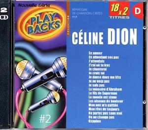 CD PLAY BACK CELINE DION VOL.02 Bis (avec choeurs)