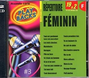 CD PLAY BACK REPERTOIRE FEMININ Vol.03 Bis (avec choeurs)