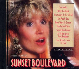 CD PLAY BACK POCKET SONGS SUNSET BOULEVARD (livret paroles inclus)