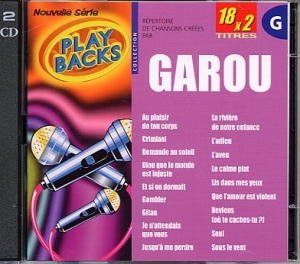 CD PLAY BACK GAROU (avec choeurs)