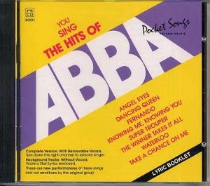 CD PLAY BACK POCKET SONGS HITS OF ABBA (livret paroles inclus)